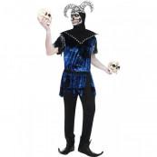 Travestimento Carnevale Halloween Costume Adulto Giullare Maligno *11917