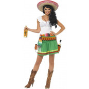 Vestito Ragazza Tequila Shotter, Abito Carnevale Donna Messicana EP 16589