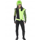 Travestimento Carnevale Halloween Adulto Giacca Elfo Punk fluo smiffys *05404