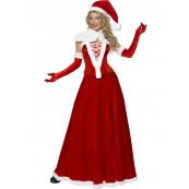 Costume carnevale Donna Babbo Natale abito Santa Claus smiffys *09937