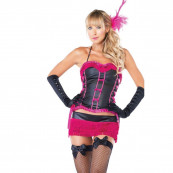 Sexy Costume Burlesque Pink - Abito