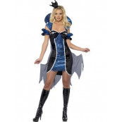 Costume Carnevale Donna vestito Regina nero Blu smiffys *12426