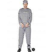 Travestimento Costume Carnevale Carcerato Prigioniero smiffys *10370