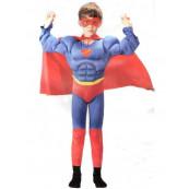 Travestimento Bimbo per carnevale Simile a Superman Con Muscoli  *01613 non ufficiale
