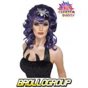 Parrucca per Costume Halloween Donna Gotico *11909 Travestimento Carnevale