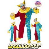 Travestimento Carnevale Adulto Clown costume Halloween Pagliaccio *17056