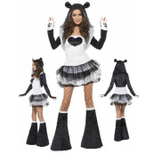 Costume Carnevale Panda Donna Tutu Dress Travestimento Smiffy's EP 17526