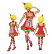 Costume Carnevale Donna pagliaccio del Circo travestimento Clown *17583
