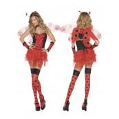 Costume Carnevale Donna sexy Coccinella con ali smiffy's 31101 *09887