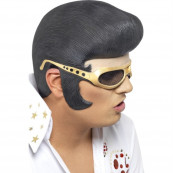 Parrucca in gomma travestimento carnevale Elvis Presley smiffys *08901