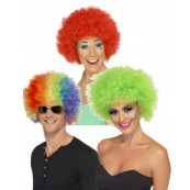 Parrucca per Costume di Carnevale Clown Afro Travestimento Smiffys *12496