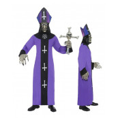 Travestimento per Carnevale Halloween Adulto Prete Vescovo Maligno *11925