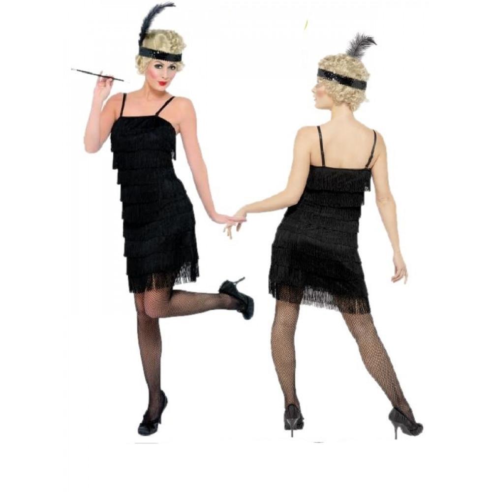 c44616fc25d4 Costume Carnevale donna Charleston Anni 20 Abito da Ballo jazz  08600 ...