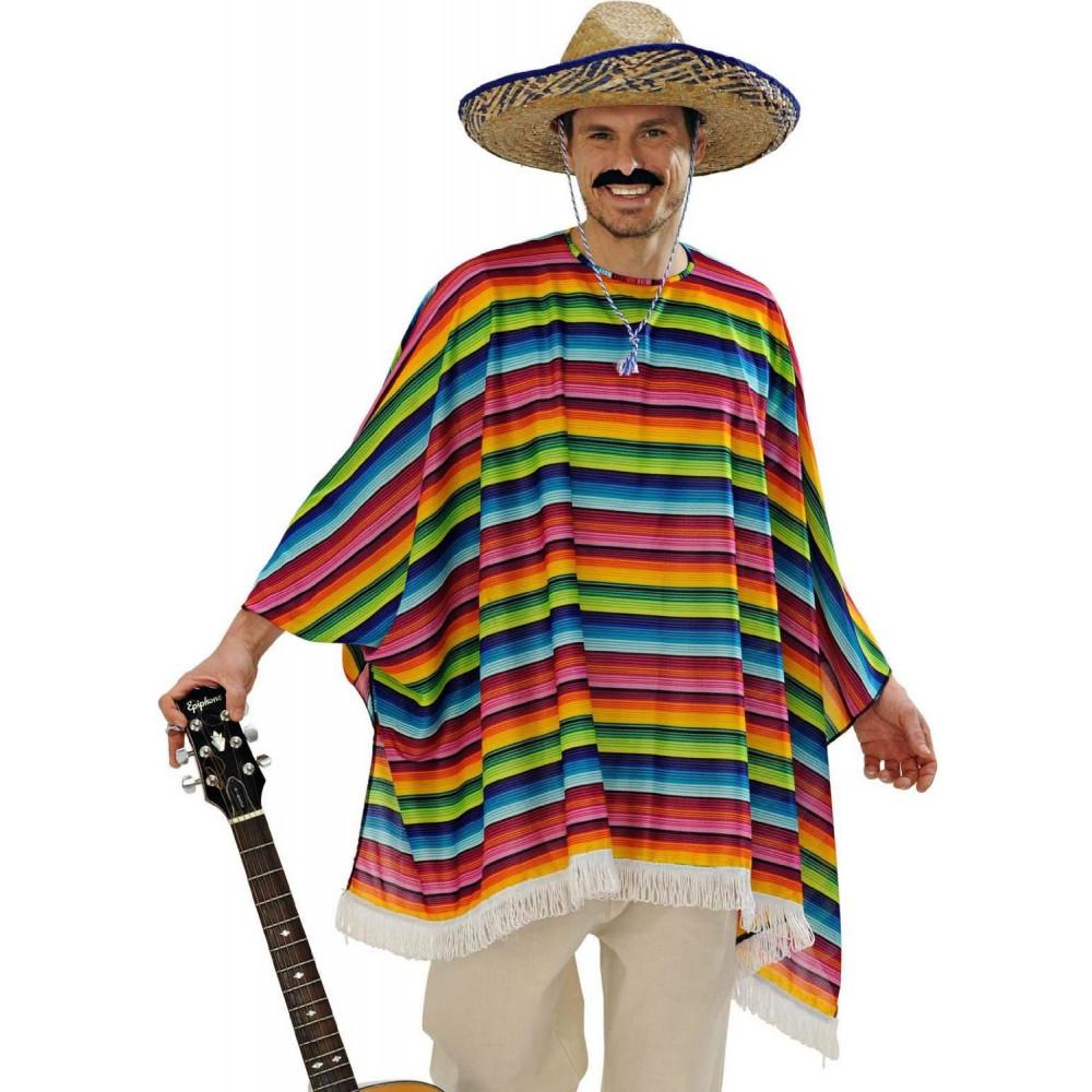 Costume Carnevale uomo Cappello sombrero messicano  01690 pelusciamo store  ... ecab2a92ee7b