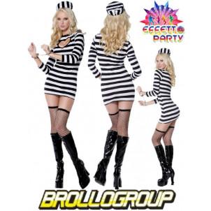Costume carnevale donna travestimento Sexy Carcerata *08460 effettoparty.com