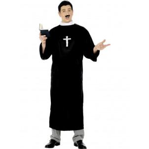 Costume Carnevale Adulto Prete Sacerdote PELUSCIAMO