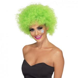 Parrucca Riccia Clown Afro - Costume Carnevale-verde