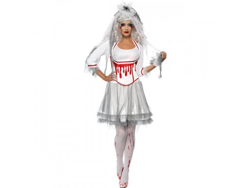 Donna Halloween Gotico Glamour /& Gotico Sposa Parrucca Vestito Accessorio Costume
