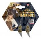 Accessorio costume Steampunk, Orecchini con Ali | Effettoparty.com