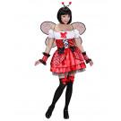 Travestimento Donna Coccinella Ladybug EP 26553 Vestito Carnevale Effettoparty Store Marchirolo