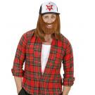 Accessorio Travestimento Anni 80 , Cappellino con Barba | Effettoparty.com