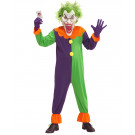 Costume Clown Evil Joker Travestimento Halloween Horror EP 25853 Effettoparty Store Marchirolo