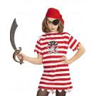 Maglietta Bandana Benda Occhio Carnevale Pirati  EP 26373 Effetto Party Store marchirolo