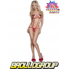 Abbigliamento Sexy Body donna String Rosso - Lingerie *12543 effettoparty.com