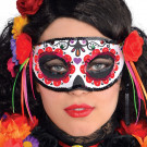 Maschera Halloween da Donna Messicana Morte | effettoparty.com
