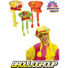 Cappello con treccie Clown accessori costumi Carnevale pagliaccio *19825 effettoparty store