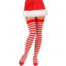 Calze Parigine A Righe Bianche Rosse Per Costume Natalizio PS 10107 Pelusciamo Store Marchirolo