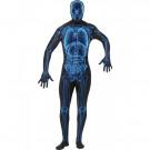 Costume Halloween Carnevale Adulto Radiografia Raggi X zentai aderente