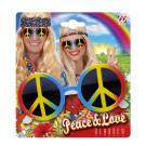 Occhiali Peace Love Per Costume Carnevale Hippie EP 26509 Effettoparty Store