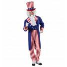 Travestimento uomo Zio Sam Costume Carnevale frac pantaloni cappello *20120 effettoparty store
