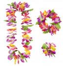 Set Hawaii Maui collana, corona, bracciale Party Hawaiano PS 07489 pelusciamo store
