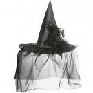 Cappello Da Strega Con Tulle E Ragno Costume Halloween EP 09051 Effettoparty Store Marchirolo