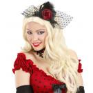 Accessorio costume Cappello Burlesque Mini Cappello A Velo | Effettoparty.com