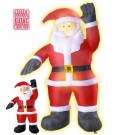 Babbo Natale Luminoso da Esterno ed Interno  Gonfiabile | Effettoparty.com