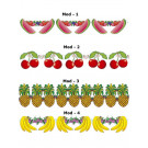 Festone Frutta 3 metri, Ghirlanda Banana, Ananas, Anguria o Ciliegia EP 02670 effettoparty.com
