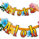 Banner Festone Scritta Aloha *08811 Hawaii     Effettoparty.com