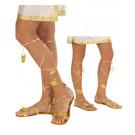 Sandali Oro per Costume Carnevale Romana, Egiziana, Greca e Fatina     pelusciamo store