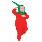 Costume Carnevale Primi Mesi, Tutina Peperoncino Circo 0-9 Mes