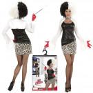 Costume Carnevale Donna Crudelia Demon Evil Mistress PS 25581 Travestimento Halloween Pelusciamo Store Marchirolo