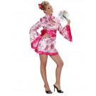 Vestito Carnevale Donna  Kimono Sexy Geisha Rosa  EP 22766 Effettoparty Store Marchirolo