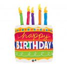 Palloncino Torta Festa Compleanno 89 cm *02704  Effettoparty.com