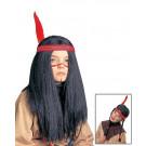 Parrucca Bambini Indiano Indiana EP 26415 Parrucche Carnevale Indiani Pelusciamo Store marchirolo (Va)