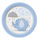 Accessorio Festa Baby Shower Bimbo, 8 piatti Carta | Effettoparty.com