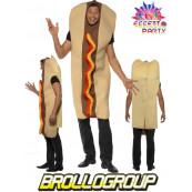Costume Carnevale Adulto Hot Dog travestimento Panino *09864