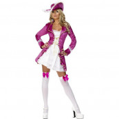 CostumI Carnevale travestimento Donna Sexy Pirata Rosa *12549  pirate treasure smiffy's