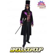 Travestimento Costume Carnevale Adulto Conte Gotico 1800 Smiffys *11878